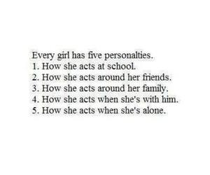 girl, quotes, and personality image