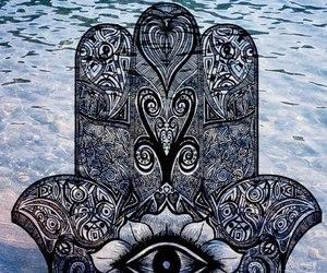 eye, hamsa, and hand image