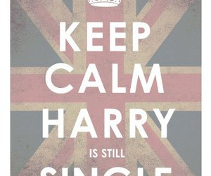 keep calm, single, and harry image