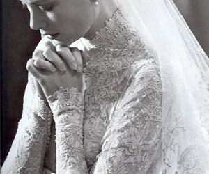 wedding, grace kelly, and dress image
