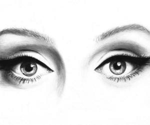 eyes, Adele, and art image