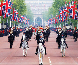horse, london, and england image