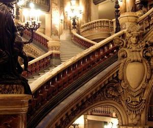 architecture, stairs, and paris image