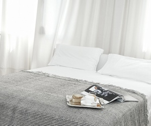bedroom, bed, and white image