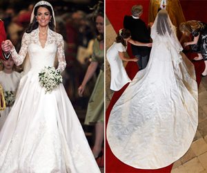 royal wedding, wedding dress, and kate middleton image