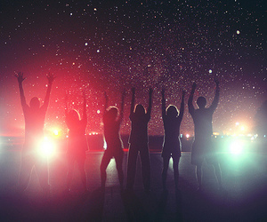 friends, light, and stars image