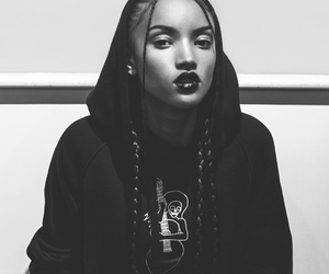 black woman, braids, and casual image