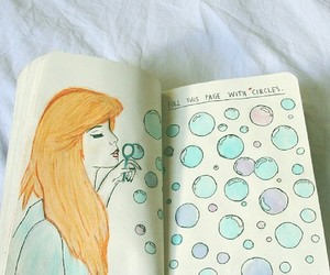 bubble, art, and draw image