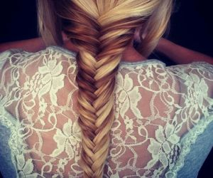 beautiful, braid, and brown image