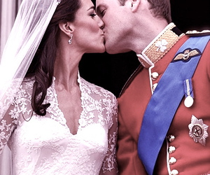 kiss, royal wedding, and wedding image