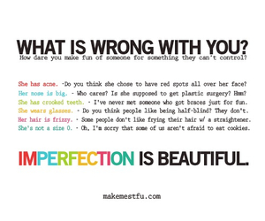 beautiful, imperfection, and quote image