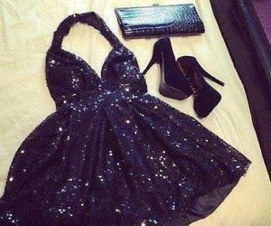 dress, black, and heels image