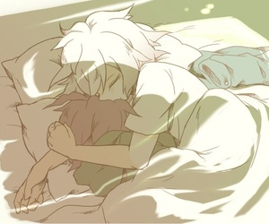 sleep, komaegi, and yaoi image