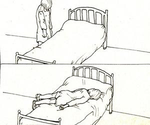 drawing, sketch, and sleep image