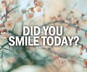 flower, inspiration, and smile image