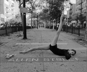 black and white, dance, and street image
