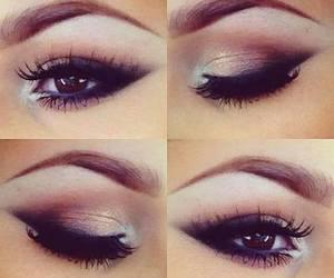 brown, eyebrows, and makeup image