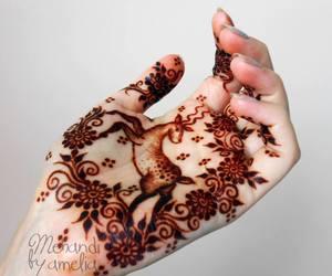 deer, Tattoos, and henna mehndi image