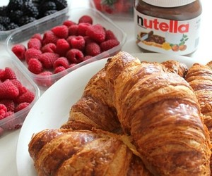 food, nutella, and breakfast image