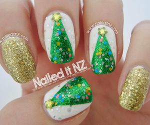 christmas, girl, and nail art image