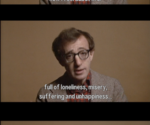 woody allen, life, and loneliness image
