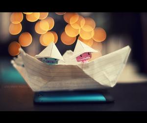 boat, light, and Paper image