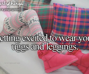 uggs, leggings, and pink image