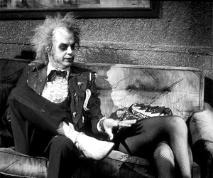 beetlejuice, black and white, and hipster image