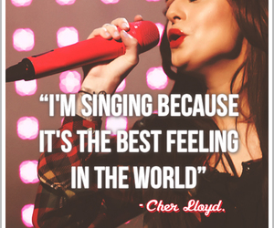 cher lloyd, singing, and quote image