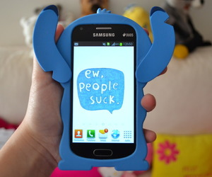 funny, stitch case, and girl image