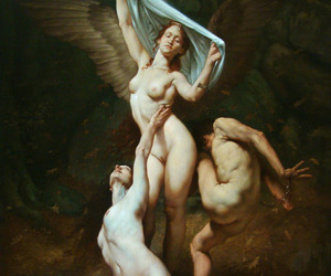 aesthetic, angel, and Oil Painting image