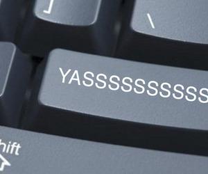 funny, keyboard, and yas image