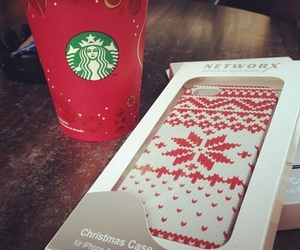 christmas, starbucks, and iphone case image