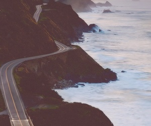 road, sea, and ocean image