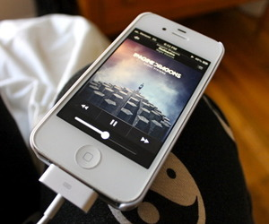 music, imagine dragons, and iphone image