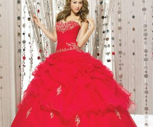 big, dress, and red image