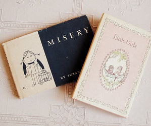 book, vintage, and misery image