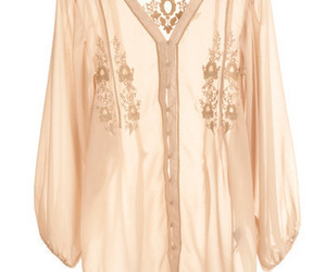 blouse, chiffon, and embroidery image