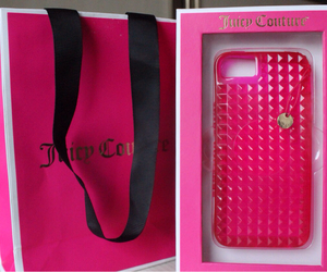 juicy couture, pink, and iphone cases image