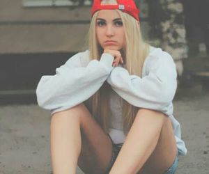 girl, vans, and blonde image