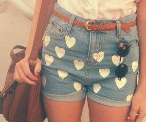 fashion, shorts, and hearts image