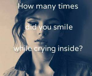 smile, cry, and sad image
