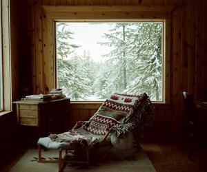 winter, snow, and window image