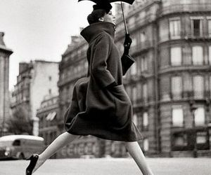 umbrella, black and white, and vintage image