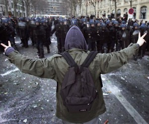 peace, boy, and police image
