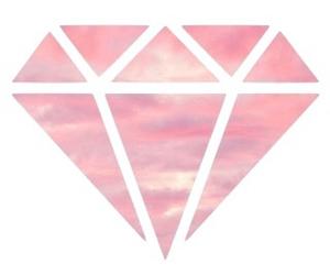 diamond, pink, and sky image