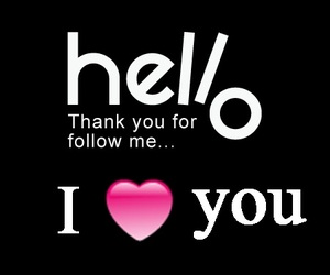 follow, I Love You, and thank you image