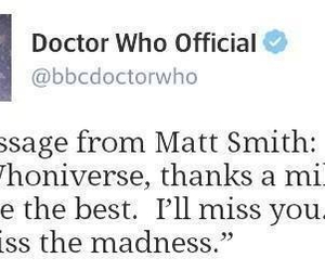 doctor who, madness, and miss you image