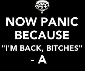 bitch, panic, and pretty little liars image