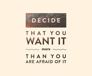 quote, afraid, and want image